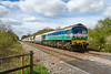 10th Apr 2017:  59005 'Keneth J Painter' on the point of 7B12 Merehead to Wootton Bassett is about to cross Masters Crossing at Fairwood