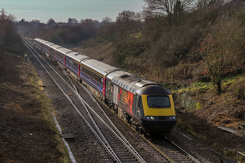 19th Dec 2017:  With 43172 'Harry Patch' leading 1A81 the 08.44 Penzance to Paddington is pictured as it crosses Clink Road Junction in Frome.