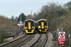 10th Jan 2017:  GWR 158s  961 & 959 on services between Portsmouth Harbour and Cardiff pass each other at Dilton Marsh