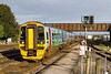 14th Jan 21017:  Yet another picture of the 'Springboard' GWR Class 158. 158798 is entering platform 1 at  Westbury as it workd 1F11 the 10.30 from Cardiff to Portsmouth Harbour