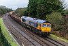 31st Jan 2017:  Yet again 66774 is tasked with hauling 6M40 from Westbury tio the Stud Farm Quarry  in Leicestershire for a ballast refill to top up the Virtual Quarry at Westbury