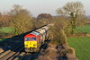 20th Jan 2017:  Taken from the bridge on Cowleaze Lane near Edington 59206 heads into the evening sun as it moves 6V18 from Allington to Whatley