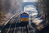 5th Jan 2017:  On a very frosty morning 66778 scoots through Norton Bavant as it works 0V40 from Eastleigh to Westbury.  From there  it will work 6M40 to Stud Farm