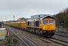 16th Jan 2017:  66774 again on the point of 6M40 empty JNAs  from Westbury to Stud Farm arriving at Swindon