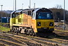 14th Jan 201:  Turkish built Colas pioneer 70801 rests at Westbury