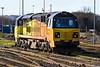 14th Jan 201:  Turkish built Colas pioneer 70801 rests at Westbury
