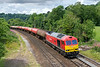 13th Jul 2017:  With 6A11 making a pathing stop in Bathampton Loop there was time to get to Freshford for a 2nd shot of 60019 on 6A11 from Margam to Theale as it rounds the curve from Limpley Stoke