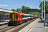 1st June 2017:  Ariving in Platform 1 at Gillingham are 158888 & 159022 forming 1L25 the 10.20 from Waterloo to Exeter St Davids.