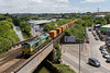 13th JUn 2017:  Nearly at journey's end is 66529 pulling 4V31  from London Gateway (Tilbury)  to Bristol Freightliner Depot near Parson Street as it takes the Station line at North Somerset Junction