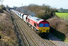2nd Mar 2017:  Taken from Lamborne Lane in Edington is 59202 working 6A77 from Merehead to Acton