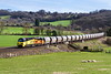 7th Mar 2017:  70802 is again rostered to work the Westbury to Aberthaw cement empties. In much better weather than was expected 6C36 is captured at Freshford