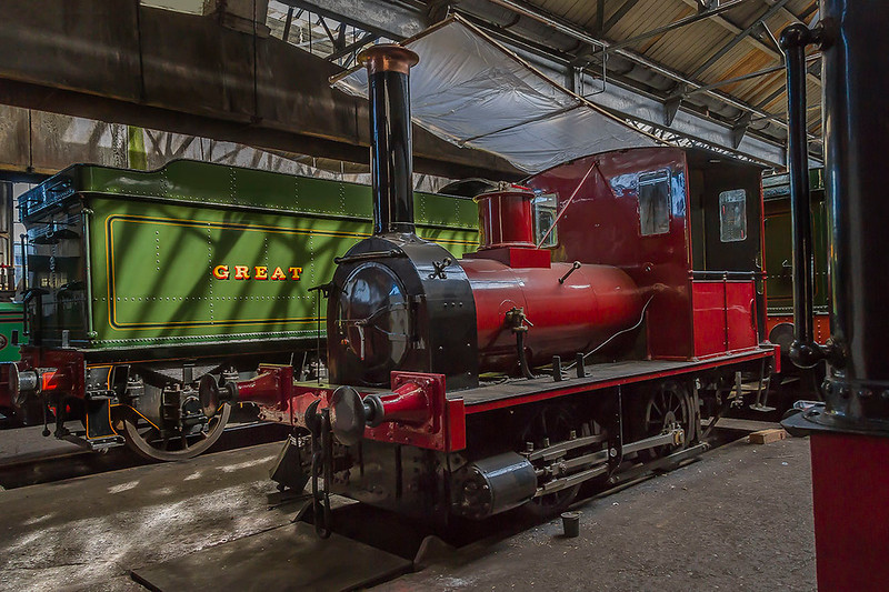 25th Mar 2017: Wantage Tramwat No 5 was bBuilt for the London & North Western Railway by George England & Co of  New Cross in 1857.  It was not very successful and in 1878 it wsas sold to the Tramway were it stayed until the Tramway closed in 1946.  Regrettably fire box cracks mean that it can no longer be steamed.
