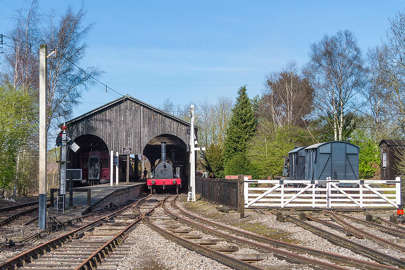 25th Mar 2017:  The Broad Guage transfer shed with Fire Fly standing on the right