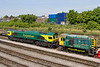 10th May 2017:  66504 and 08785 at rest in the Maritime depot
