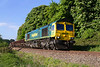 9th May 2017:  A Freightliner loco on MLAs on the Thingly to Bradford Junction  line are not common so this is the reason for a visit to the line near Melksham.  66956 is working 6Y40 with the waggons full of dirt from Oxford to Westbury