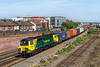 10th May 2017: 70005 pulls away from Platform 3 at Eastleigh with 4O18 from Lawley Street to Southampton