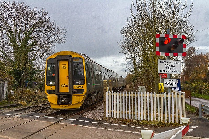 27th Nov 2017:  Captured at Codford is 1F17 the 12.30 from Cardiff to Portsmouth Harbour in the hands of 158950