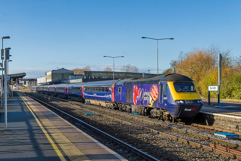 """28th Nov 2017:  Just getting underway is 43027 """"90 Glorious Years' as it works 1A12 the 07.04 from Paignton tp Paddington.  I think that this vinyl is one of the best that has been produced."""