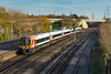 17th Nov 2017:  Pioneer Class 444. 444001 running through Millbrook shows just how well the old SWT livery stands out.  2B35 is the12.39 from Waterloo to Poole