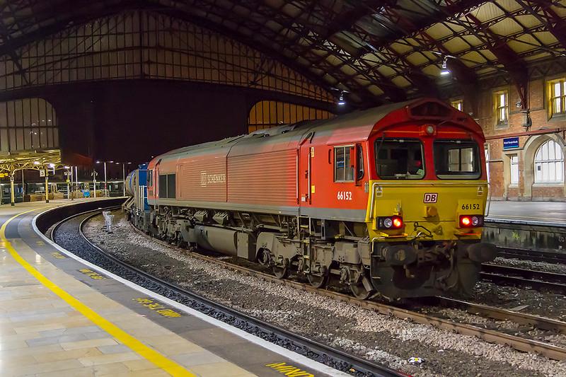 10th Now 2017:  The first shed to be painted into Schenker red 66152  stands in Bristol Temple Meads with 3J39.   This working includes going to Chippenham, Westbury, Gloucester, Western Super Mare and a large selection of the South Wales Valleys.  A very dirty 66024 is on the other end