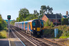 16th Oct 2017:  Arriving at Bagshot is South Western Railways 450008 working 2N32 th3 11.00 Guildford to Ascot.