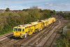 20th OCT 2017:  RTT showed that service 691J was running from ReadingTriangle Sidings to Westbury.  It turned out to be Plasser & Theurer USP 5000 RT tamper DR 77907 miraculously catching the sun as it arrived at Westbury