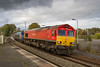 22nd Oct 2017:   On a Sunday 3S59 the RHTT based on Bristol Barton Hill makes it's trip to Westbury during the afternoon and is in daylght.  Unfortunatley the afternoon sunlight departed as I drove to Trowbridge to picture 66152 & 66024 as they are about to pass through the station