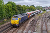 5th Sep 2017:  After their use on the Gatwick Express services  ceased the Class 442 units were moved to storage in the Ely Mlf Papworth Sidings.It has emerged that an independent company has decided that they  could use some of the 442s for a new Commuter Service to Waterloo that they are planning.  ROG loco 47812 is captured at Totton as it moves 442416 from Ely tp Bournemouth T&R S M D presumably for a bit of TLC