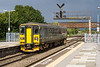 12th Sep 2017:  153368 is leaving Westbury  as it works 2M12 the 14.04 from Frome to Swindon