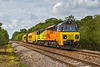 18th Sep 2017:  Colas Rail Freight 70813 is bringing Railvacs number 3 & 4 (Noo Noos) back to Westbury from Exmouth Junction,  6X34 is picured at gets to Masters Crossing a little to the west of Fairwood Junction near Westbury
