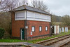 13th Apr 2018:  The now disused GWR signal box at Maiden Newton