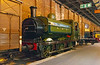 20th Apr 2018:  Situated in the 'Station Hall'  9he old York Goods Shed) section of the National Railway Mueum is Great Northern Railway Class J13 0-6-0 Saddle Tank No 1427.  Built in 1899 it later in BR days was renumbered as 68846.