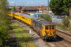 18th Apr 2018:  1Q66 now with 73961 leading  returns from the Fawley branch to Redbridge. It has run wrong line from Totton and is entering the loop that comes from the Maritime terminal.    Once clear of the trap points it will halt and then return to Woking via Romsey and the Laverstock loop at Salisbury