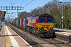 5th Apr 2018:  Running through Cholsey is 66200 working from Trafford Park Euro Terminal to Southampton Western Docks Berth 109