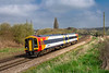 14th Apr 2018:  It is 5 minutes past eleven and GWR hire in  from SWR 158883 is at Hawkeridge Junction with 2M54 the 10.41 from Chippenham to Westbury