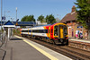 18th Apr 2018:  Arriving in the platform at Redbridge is 158886 forming 2R42 the11.56 from Salisbury to Romsey