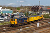 18th Apr 2018:  The Network Rail tester from Woking to Woking via Fawley (1Q66)  is being powered by 73965 & 73961. Pictured here as it arrives at Eastleigh from the line from Romsey via Chandlers Ford