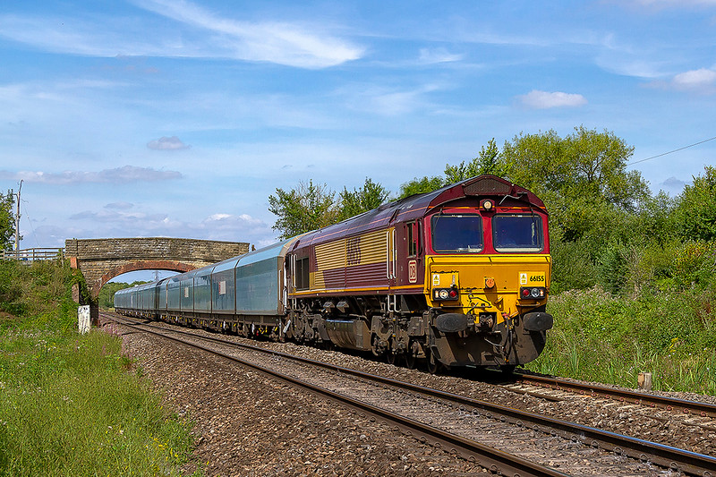 4th Aug 2018: 0O12 in theory moves locos from Margam to Eastleigh but recently has started from Newport ADJ and occasionally brings the odd wagon or two as well.  Today is is more like a normal train as 66055 has three WIA car carrier sets in tow .  It is pictured at Heywood