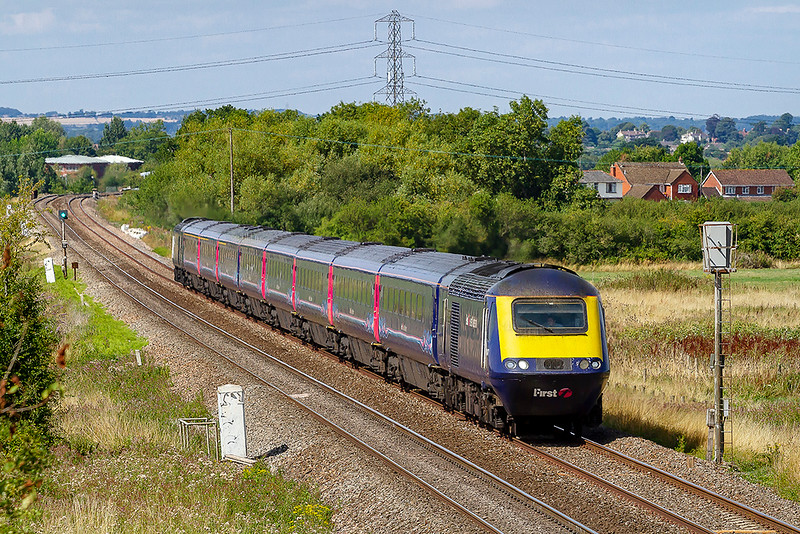 4th Aug 2018:  1C85 is the 13.42 Paddington to Penzance  formed of 43147 and 43194.  They are pictured as they near Heywood.