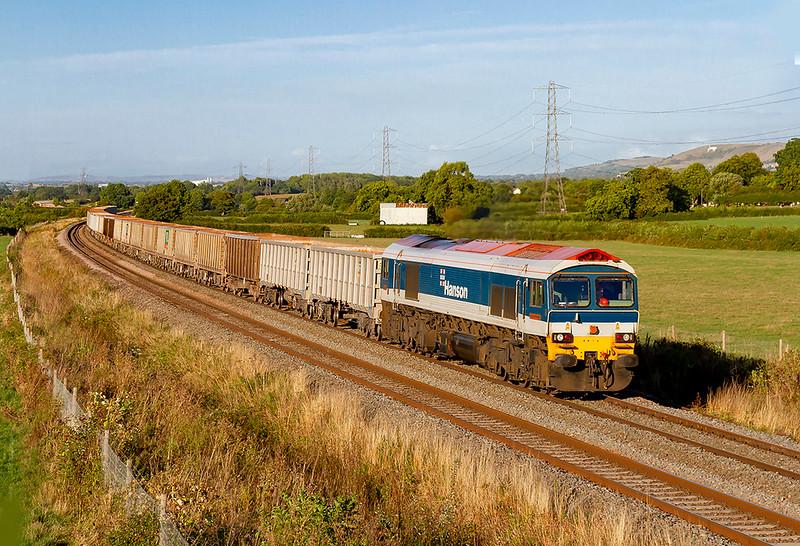 16th Aug 2018:  59104 runs through Berkley with 7C07 from Acton to Merehead