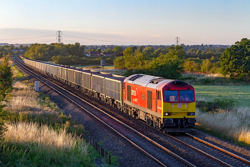 2nd Aug 2018:  Taken at 25 minutes past eight at Church Road in Heywood and this time in the sun is 60007.  6C48 is bringing the empty JNAs back from Appleford to Whatley Quarry