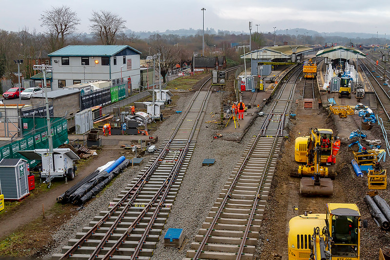 25th Dec 2018: 09.36 Track laid over night.   Why have they not relayed the old Platform 1?