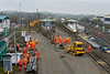 24th Dec 2018:  Levelling the ballast prior to tamping it
