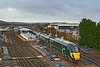 22nd Dec 2018:  1A77 the 07.50 to Paddington from Plymouth is leaving Westbury with 802004 on the front and 802010 behind.  The clutter is in conjunction with the Christmas period closure of the junction for track replacement..  Platform extension work is also being done.