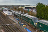 22nd Dec 2018:  1A77 the 07.50 to Paddington from Plymouth is leaving Westbury with 802010 behind 802004.  The clutter is in conjunction with the Christmas period closure of the junction for track replacement..  Platform extension work is also being done.