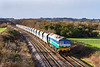 21th Dec 2018:  59005 heads 7B12 from Merehead to Wootton Bassettt away from Fairwood Junction and towards Westbury