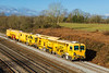 2nd Feb 2018:  Tampers DR77907 and DR73917 are working from Canton Taff Vale Sidings to Reading Triangle Sidings through Magor