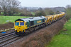 28th Jan 2018: On another grotty day 66561 is captured at Great Cheverell.  With the full HOBC in tow and with 66419 on the other end 6Y15 started from Twyford and is making for Fairwater Yard in Taunton