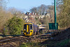 30th Jan 2018:  Running 6 minutes late 158958 accelerates away from Bradford on Avon as itworks 1F16 the 11.23 from Portsmouth Harbour to Cardiff Central