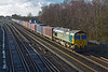 17th Jan 2018: 66565 brings 4M61 to Trafford Park from Southampton Maritime away from the Battledown flyover at Worting Junction